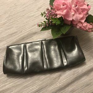 Express Faux Leather Grey Clutch